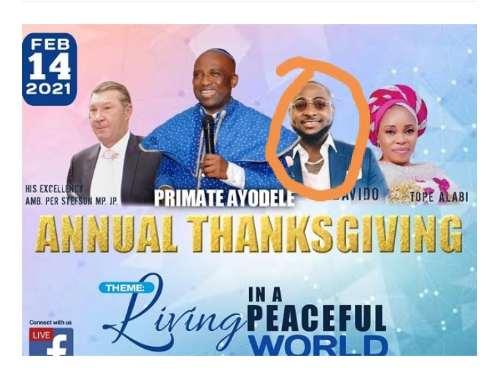 Read what Apostle Ayodele said On Davido's performance In Upcoming Church Event